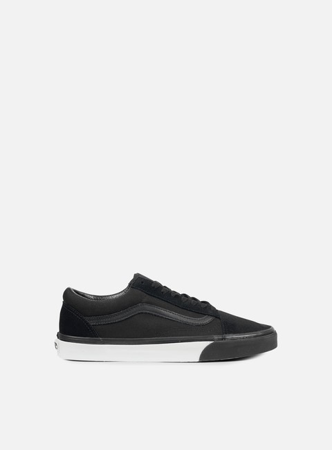 sneakers vans old skool mono bumper black true white