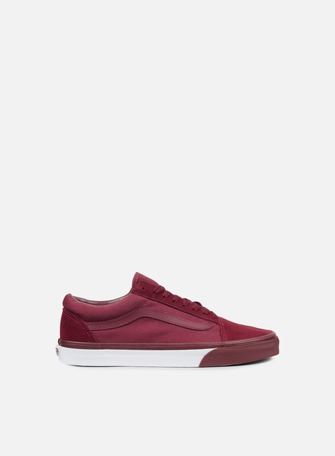 sneakers vans old skool mono bumper cabernet true white