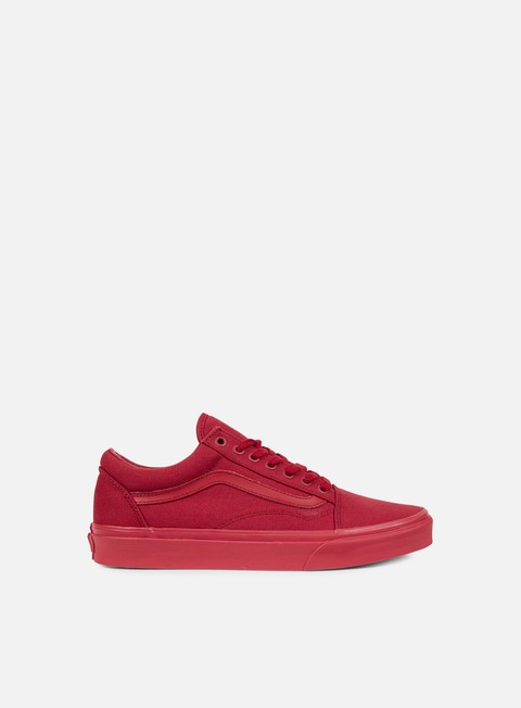sneakers vans old skool mono crimson