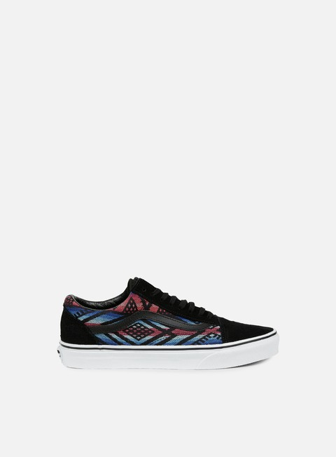 sneakers vans old skool moroccan geo black true white