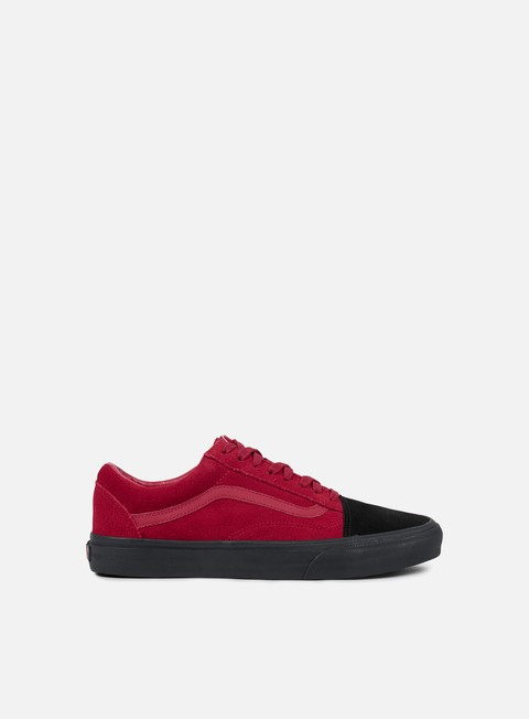 sneakers vans old skool native suede red black