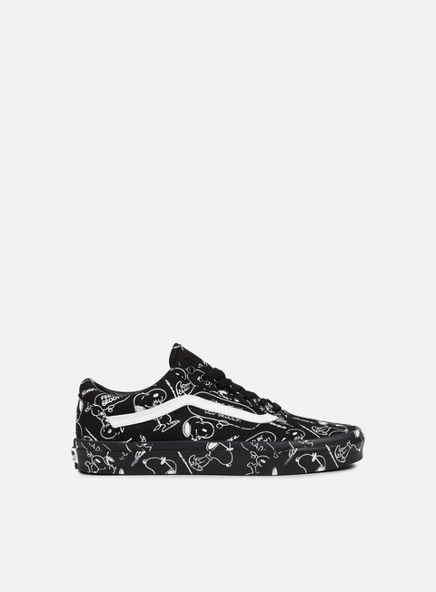 sneakers vans old skool peanuts snoopy black