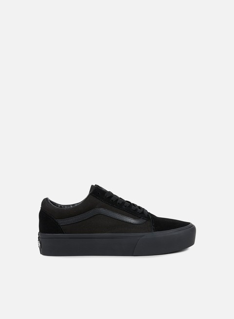 sneakers vans old skool platform black black
