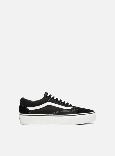 sneakers vans old skool platform black white
