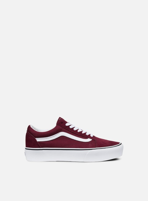 sneakers vans old skool platform port royale white