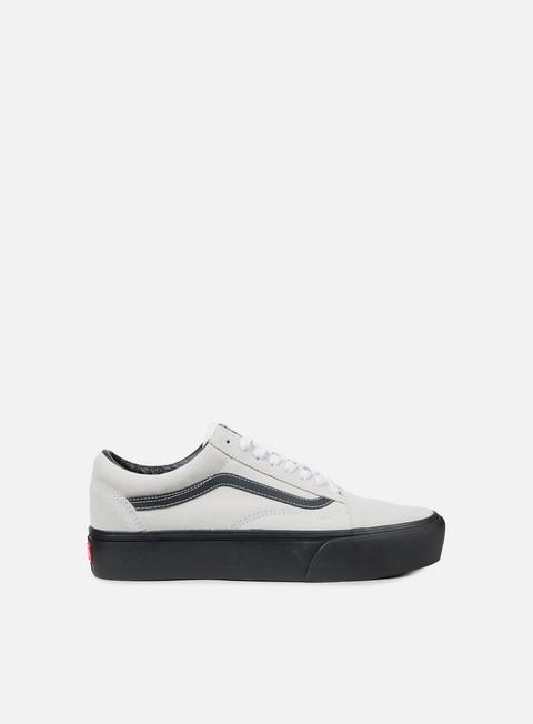 sneakers vans old skool platform suede blanc de blanc black