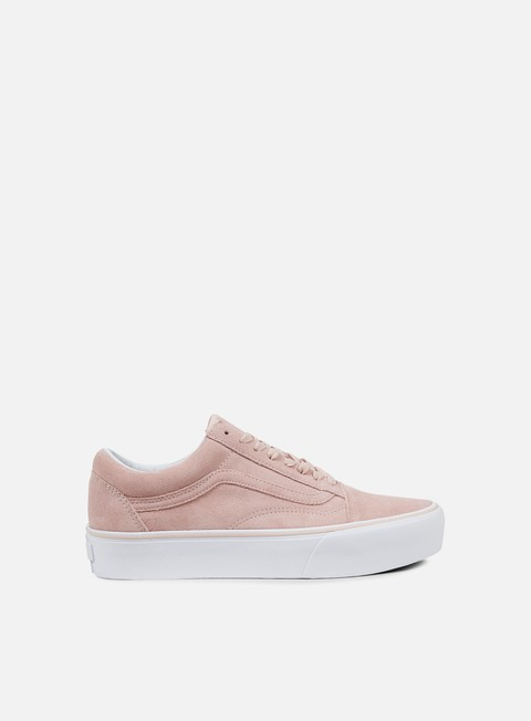 sneakers vans old skool platform suede sepia rose true white