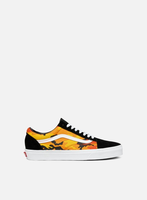 sneakers vans old skool pop camo black spicy orange true white