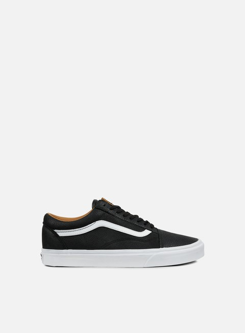 sneakers vans old skool premium leather black true white