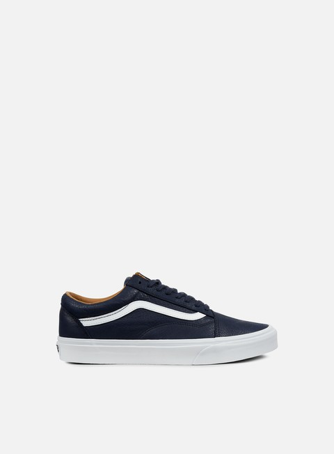 sneakers vans old skool premium leather parisian night true white
