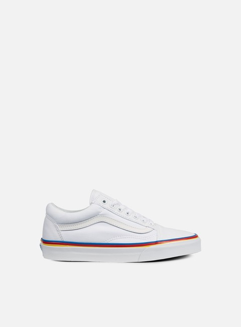 sneakers vans old skool rainbow foxing true white