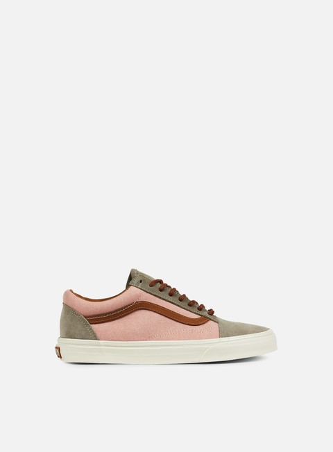 sneakers vans old skool reissue brushed burnt coral turtledove