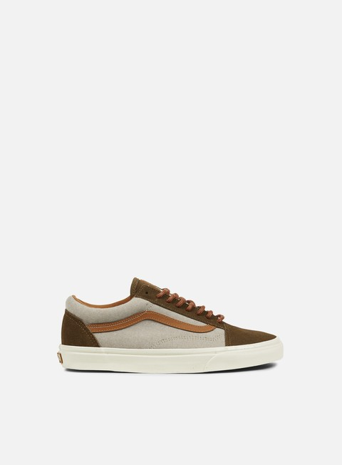 sneakers vans old skool reissue brushed teak turtledove
