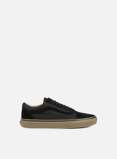 sneakers vans old skool reissue coated black medium gum