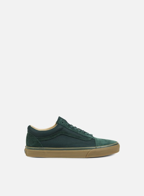 sneakers vans old skool reissue coated green gables medium gum