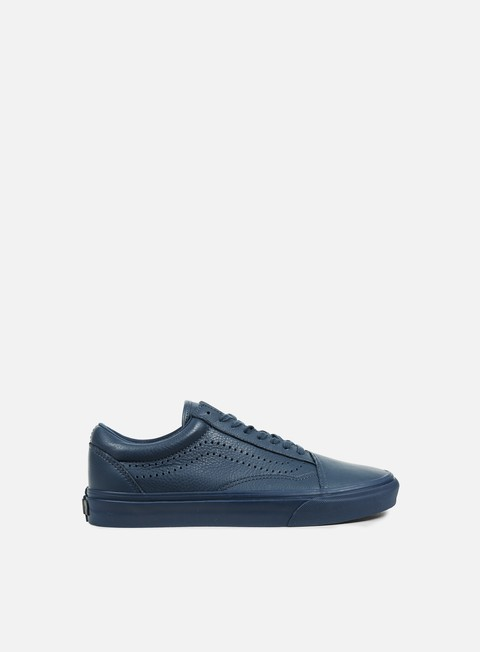 sneakers vans old skool reissue leather midnight navy
