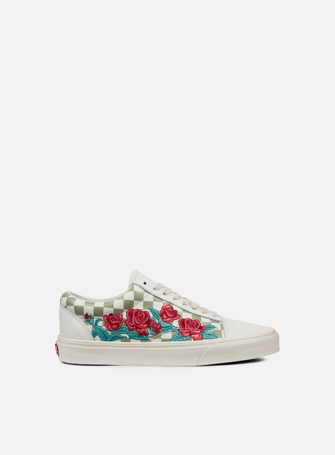 sneakers vans old skool rose embroidery marshmallow