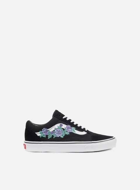 sneakers vans old skool rose thorns lilac true white