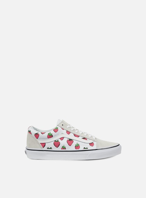 sneakers vans old skool strawberries true white