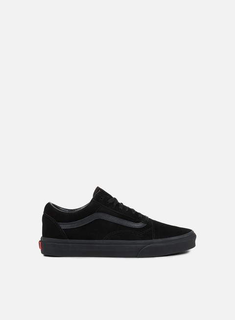 sneakers vans old skool suede black black black