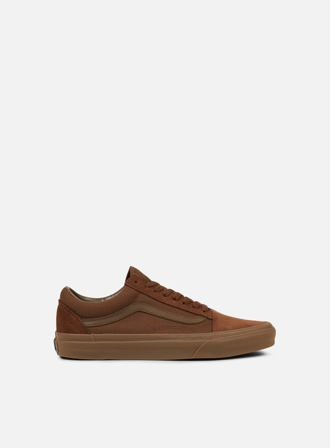 sneakers vans old skool suede canvas dark earth gum