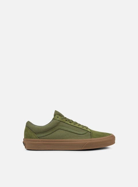 sneakers vans old skool suede canvas winter moss gum