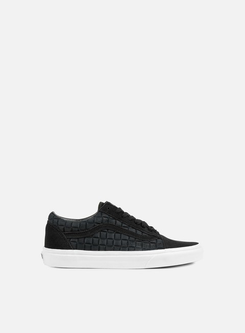 sneakers vans old skool suede checkers black