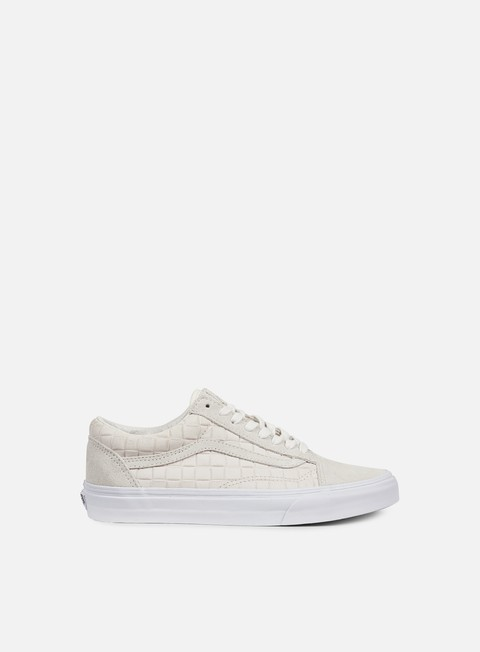 sneakers vans old skool suede checkers white