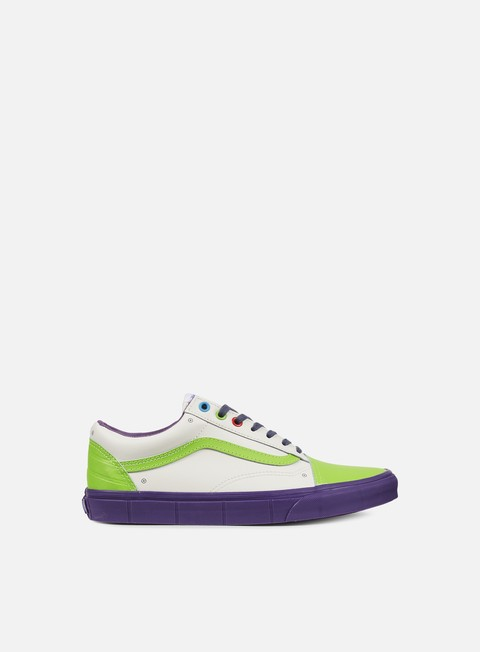 sneakers vans old skool toy story buzz lightyear true white