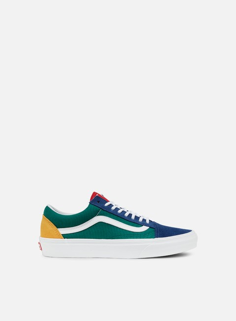 sneakers vans old skool vans yacht club blue green yellow