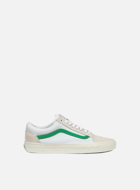 sneakers vans old skool vintage sport true white kelly green