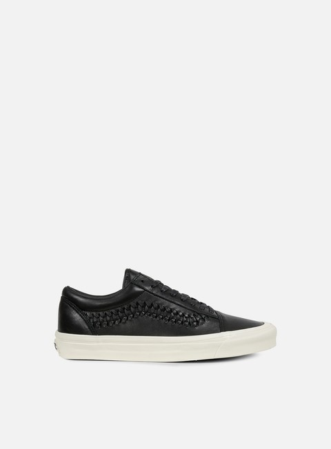 sneakers vans old skool weave leather black