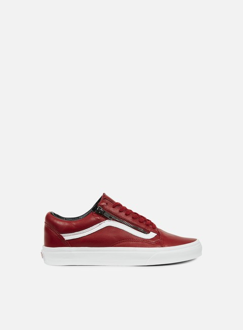 sneakers vans old skool zip antique leather chili pepper