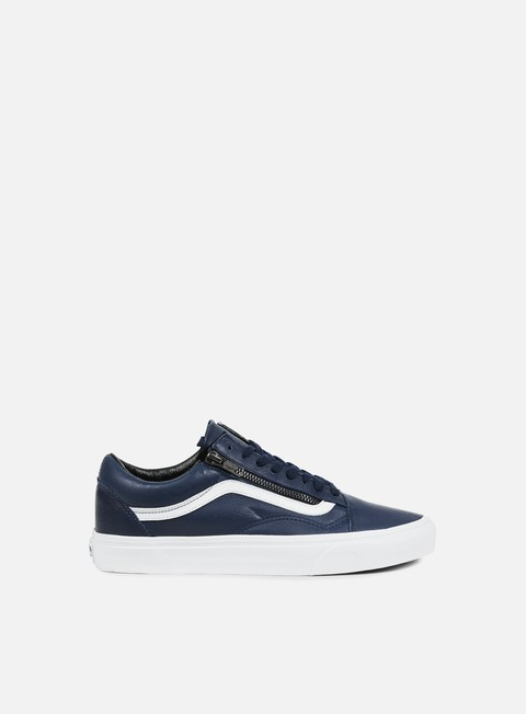 sneakers vans old skool zip antique leather dress blues