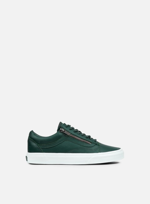 sneakers vans old skool zip antique silver green gables