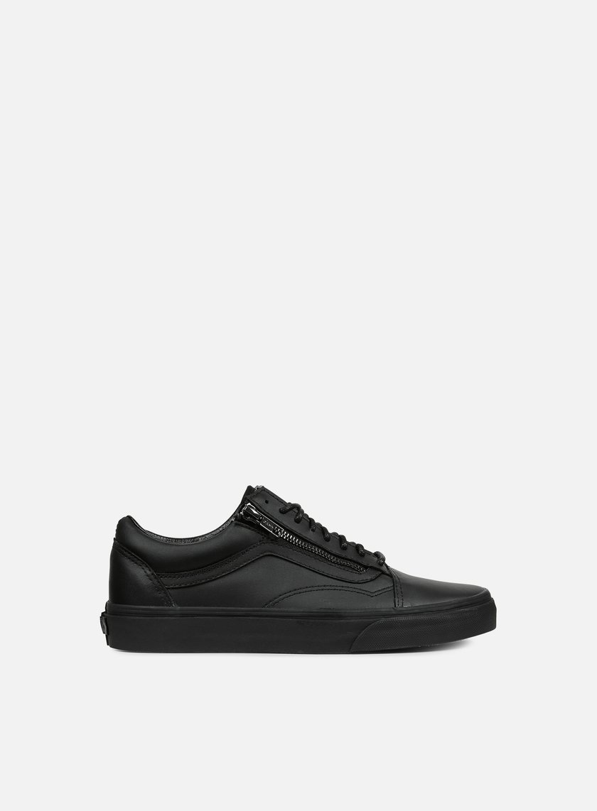 Vans - Old Skool Zip Gunmetal, Black/Black