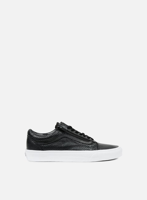 sneakers vans old skool zip perforated leather black