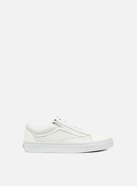sneakers vans old skool zip perforated leather true white