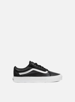 Vans - Old Skool Zip Premium Leather, Black/White