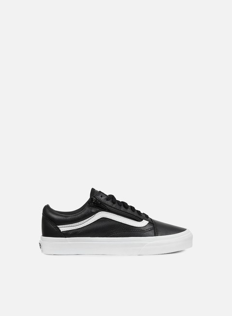 sneakers vans old skool zip premium leather black white