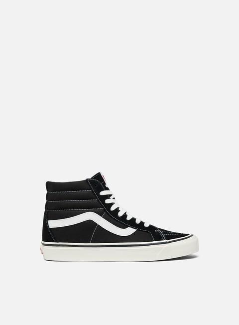 sneakers vans sk8 hi 38 dx anaheim factory black truewhite