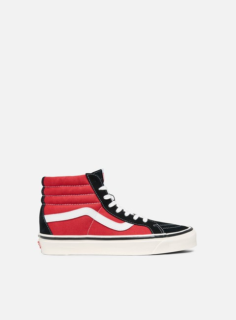 sneakers vans sk8 hi 38 dx anaheim factory og black og red
