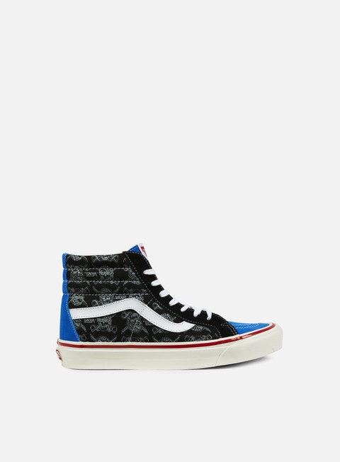 sneakers vans sk8 hi 38 reissue 50th stv multi print