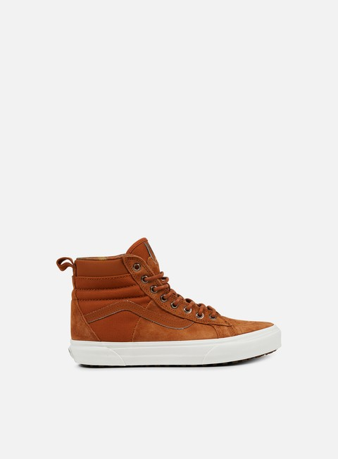 sneakers vans sk8 hi 46 mte dx glazed ginger flannel