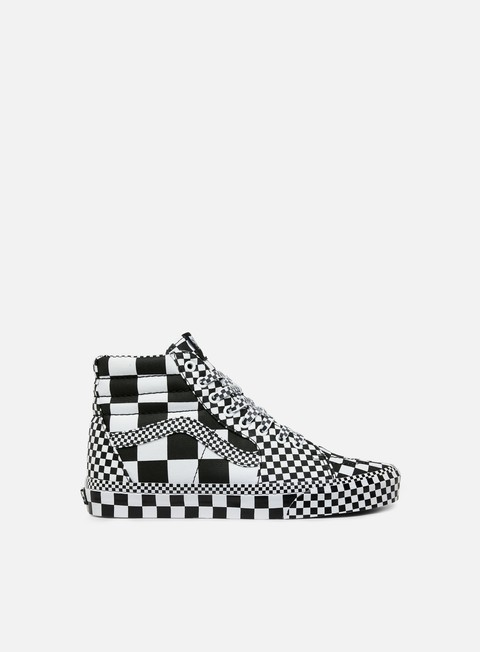 Outlet e Saldi Sneakers Alte Vans Sk8 Hi All Over Checkerboard