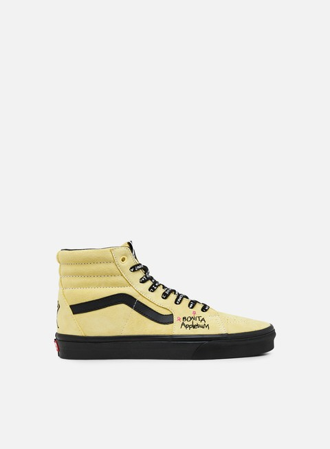 sneakers vans sk8 hi atcq mellow yellow black