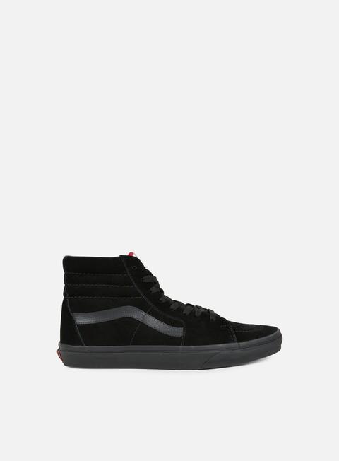 sneakers vans sk8 hi black black