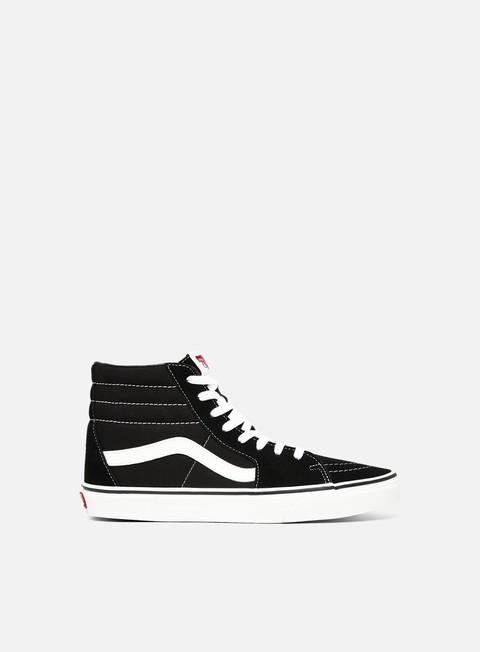 Vans Sk8 Hi, Black Black White