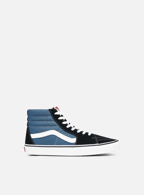 sneakers vans sk8 hi black navy
