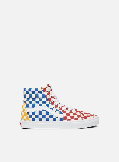 Outlet e Saldi Sneakers Alte Vans Sk8 Hi Checkerboard